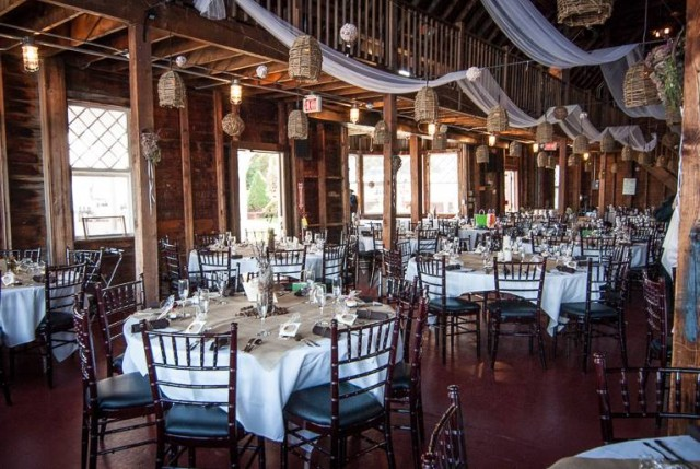Boathouse reception decorations. courtesy of Semararo Photography