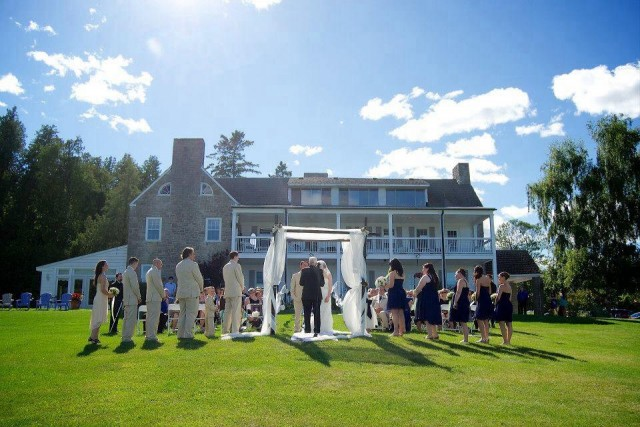 Main House Wedding Ceremony Courtesy of Greer Cicarelli Photography