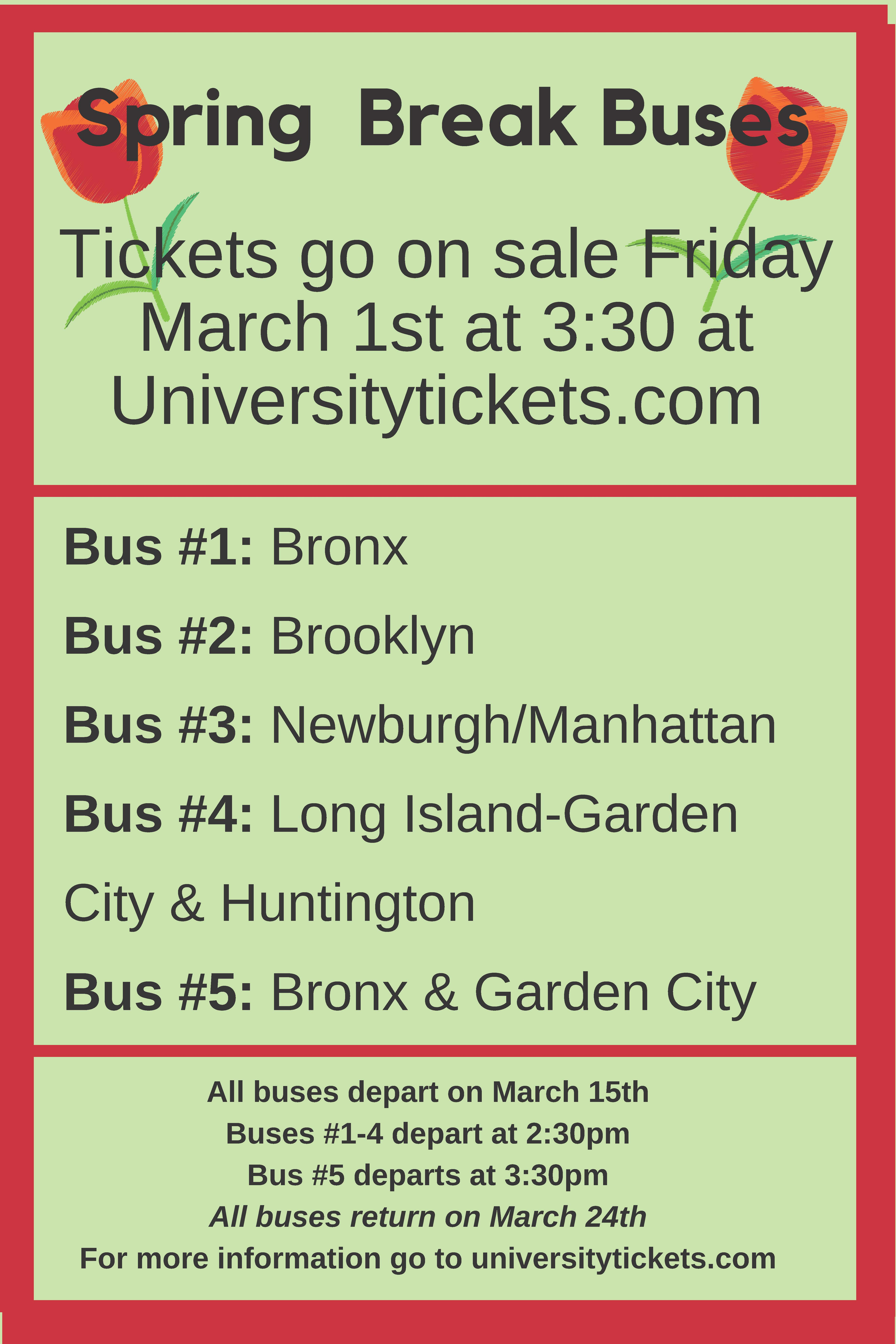 Spring Bus Break Flyer