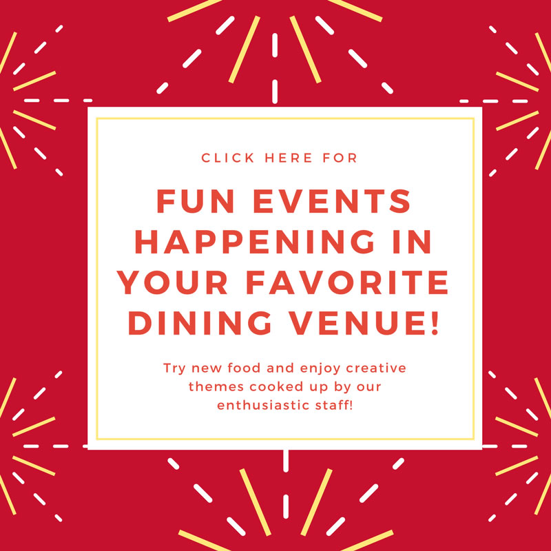 Fun events in dining venues