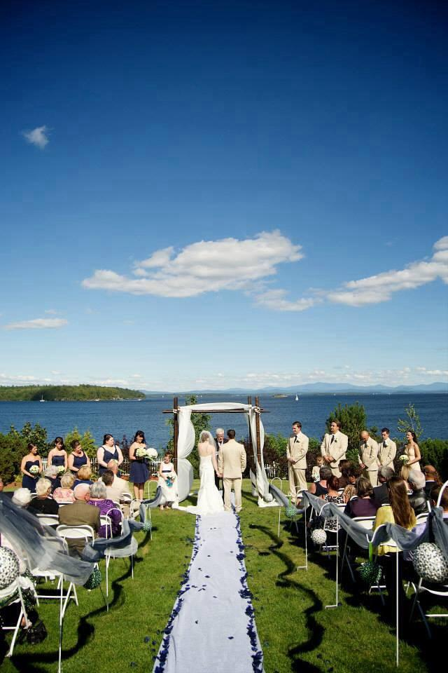 Inn Lake View Wedding Ceremony